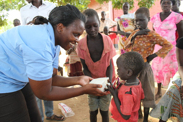Drop in the Bucket soap delivery is South Sudan